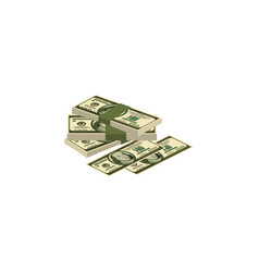 color image a pile of money cash dollars vector image