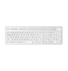 Computer keyboard icon image vector