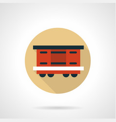 covered wagon beige round icon vector image