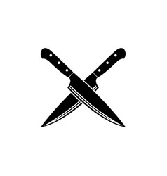 cross knife icon vector image
