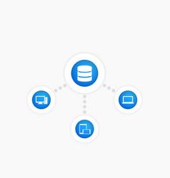 Data mining icon vector