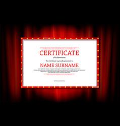 Elegant template certificate vector