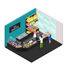 farmer market of organic food vector image