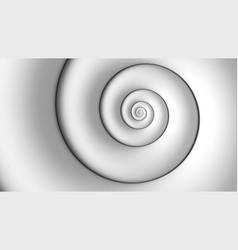 Fibonacci spiral white abstract background vector
