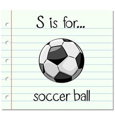 Flashcard letter S is for soccer ball vector