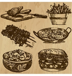Food - An hand drawn pack vector