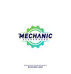 gear logo design concepts mechanical gear logo vector image