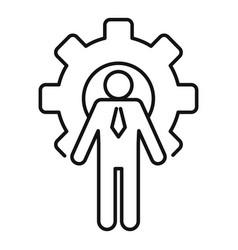 Gear wheel admin icon outline style vector