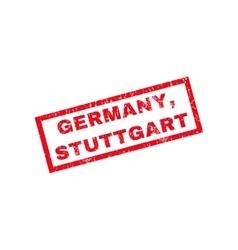 Germany Stuttgart Rubber Stamp vector image