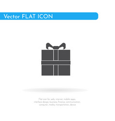 Gift icon for web business finance and vector