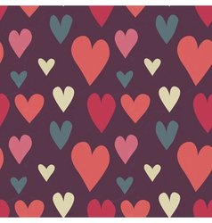 Grungy seamless heart pattern for valentines day vector image