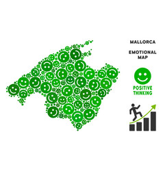 Happiness spain mallorca island map vector