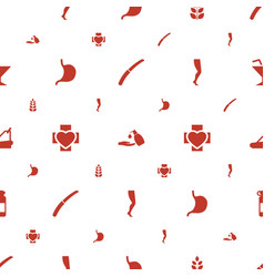 Health icons pattern seamless white background vector