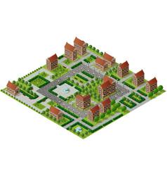 Historic educational buildings vector