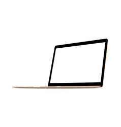 Laptop computer gold mock up vector