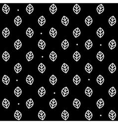 Leaf pattern monochrome simple minimalistic vector image