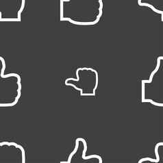 Like icon sign Seamless pattern on a gray vector image