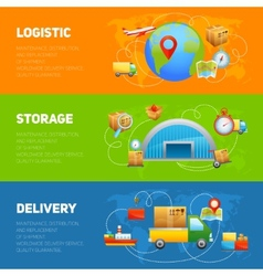 Logistic Banner Set vector