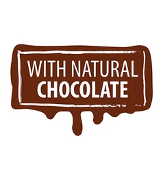 logo printing for natural chocolate vector image