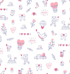Love is everywhere valentine pattern vector image