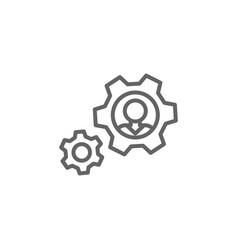 Management gear men outline icon elements of vector