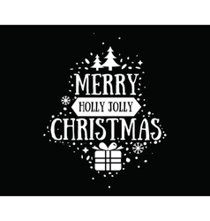 Merry Christmas typographic emblems set vector image