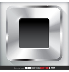 Metal Stop Button Applicated for HTML and Flash vector image