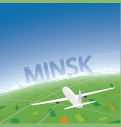 Minsk flight destination vector