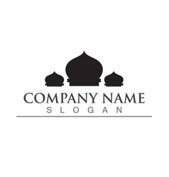 Mosque icon design template vector