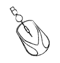 mouse computer device vector image