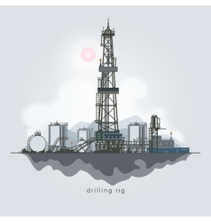 Oil or Natural Gas Drilling Rigs vector