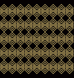 Overlapping golden squares black background vector
