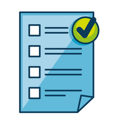 paper document checklist icon vector image