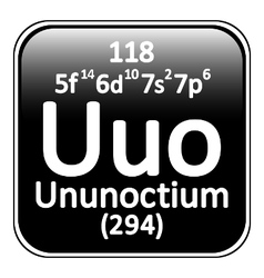 Periodic table element ununoctium icon vector