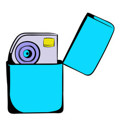 petrol lighter icon cartoon vector image