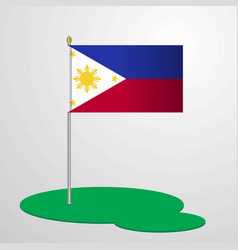 phillipines flag pole vector image