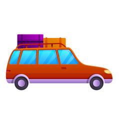 Picnic car trip icon cartoon style vector