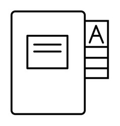 Questionnaire folder thin line icon form doll vector