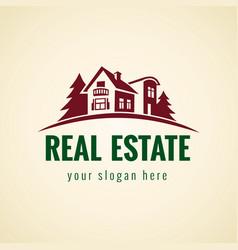 real estate logo forest vector image