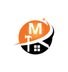 restorations and constructions initial m vector image
