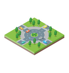 roads isometric view vector image