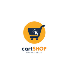 shopping cart logo design cart icon design vector image