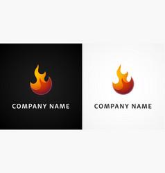 simple fire logo vector image
