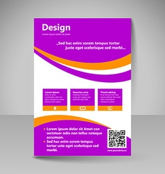 Site layout for design vector image