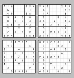 Sudoku game set vector
