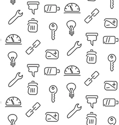 Technical tools seamless pattern vector
