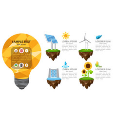 The energy infographic modern infographic vector
