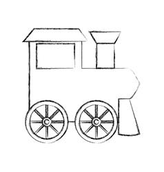 Train baby toy icon vector