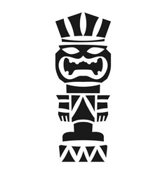 Tribal idol icon simple style vector