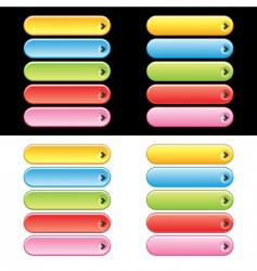 web plastic button set vector image vector image